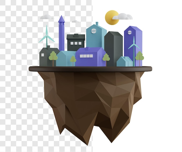 Giornata mondiale dell'habitat rendering 3d concetto