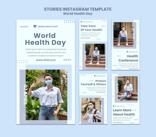 Storie di instagram per la giornata mondiale della salute