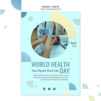 Modello di poster della giornata mondiale della salute con foto