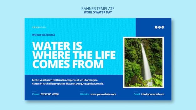 Modello di banner giornata mondiale dell'acqua
