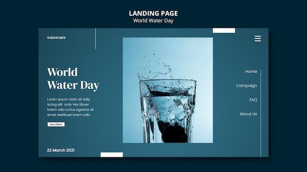 Pagina di destinazione della giornata mondiale dell'acqua