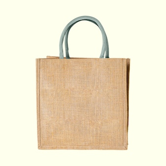 Un modello di borsa in tessuto intrecciato