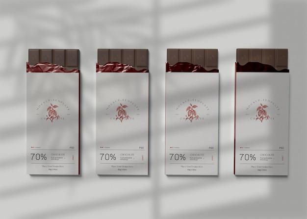 Mockup di cioccolato avvolto