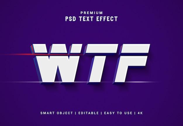 Generatore di effetti di testo premium wtf