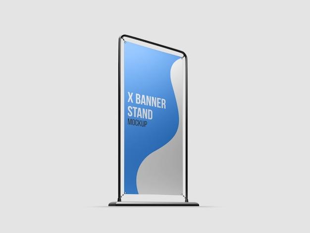 Mockup di stand x-banner isolato