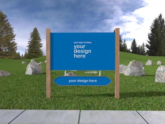 Yard sign mockup