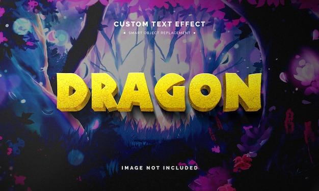 Effetto di stile di testo 3d animazione giallo