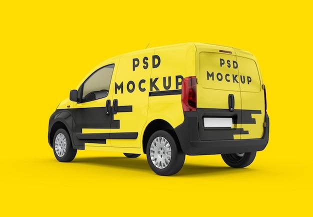 Mockup di furgone generico giallo