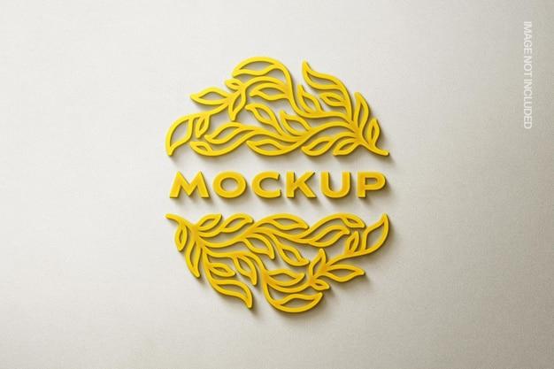 Mockup logo giallo incandescente