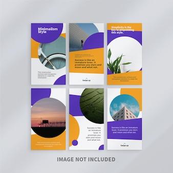 Giallo instagram stories template design