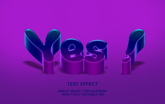 Sì modello effetto testo