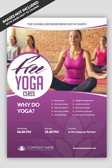 Modello di volantino per la lezione di yoga