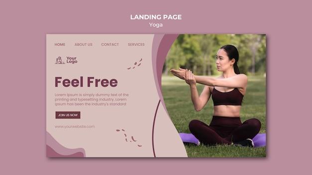 Modello di pagina di destinazione del corso di yoga