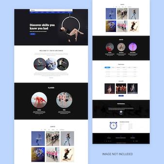 Pagina web di yoga e danza
