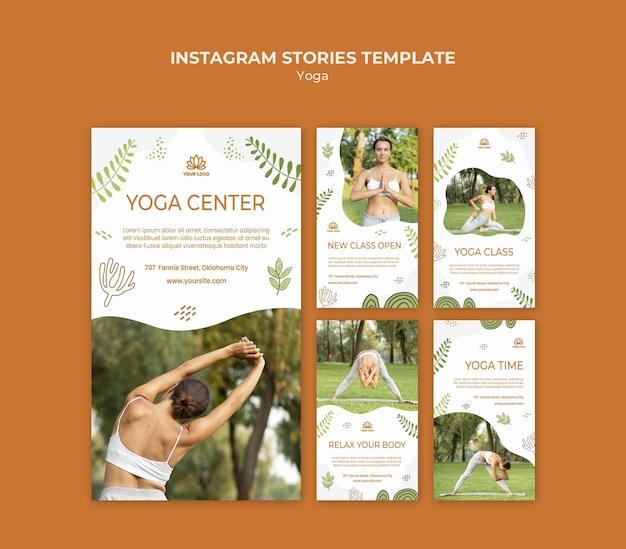 Modello di storie di instagram di yoga