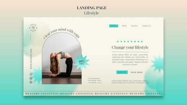 Modello di pagina di destinazione dello yoga