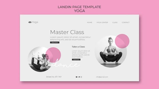 Modello web della pagina di destinazione yoga
