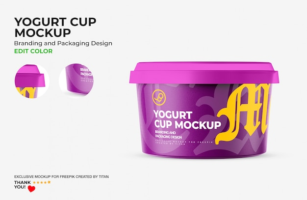 Coppa di yogurt mockup