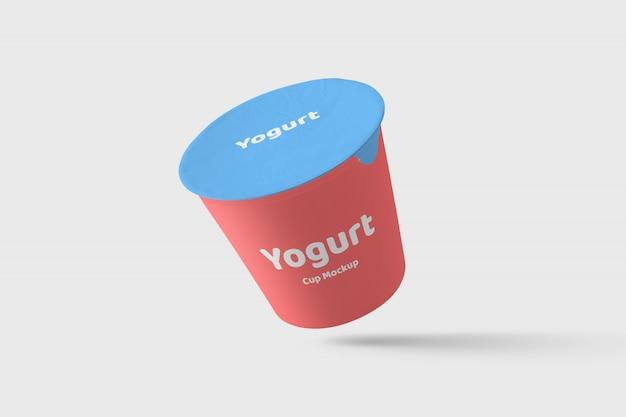 Mockup di confezionamento di yogurt