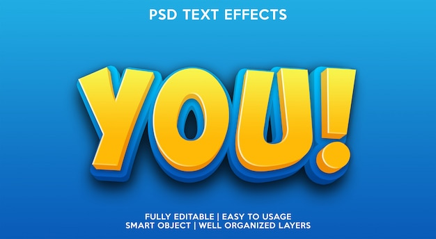 You text effect template