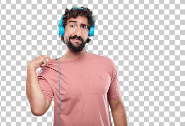 Giovane uomo con la barba con un gesto stressato, sudando e tirando il collo della camicia aperto, sentendosi soffocato.
