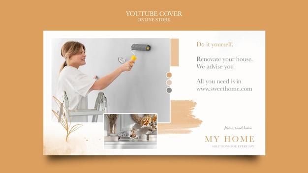 Copertina youtube per negozio online di mobili per la casa