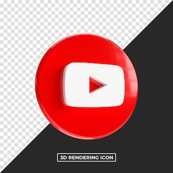 Youtube rendering 3d lucido premium psd