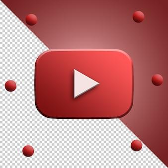 Youtube logo 3d rendering isolato