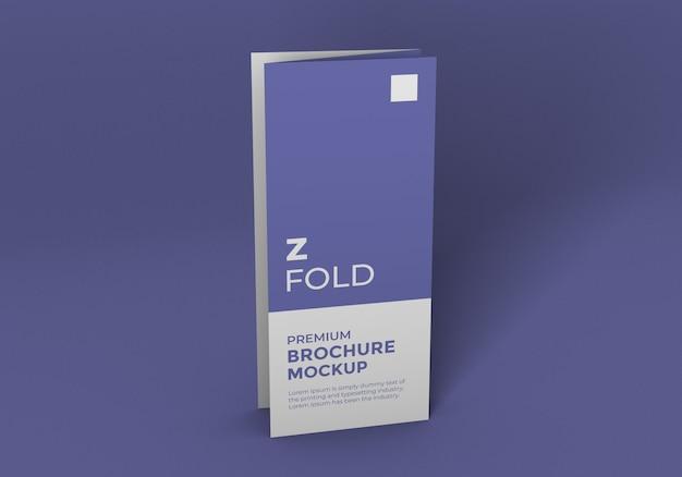 Mockup di brochure piega a z.
