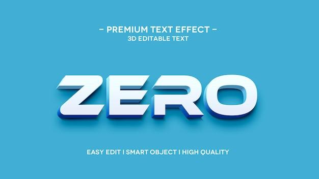 Modello di effetto sytle con testo 3d zero