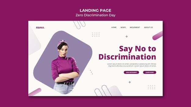 Pagina di destinazione dell'evento per il giorno della discriminazione zero