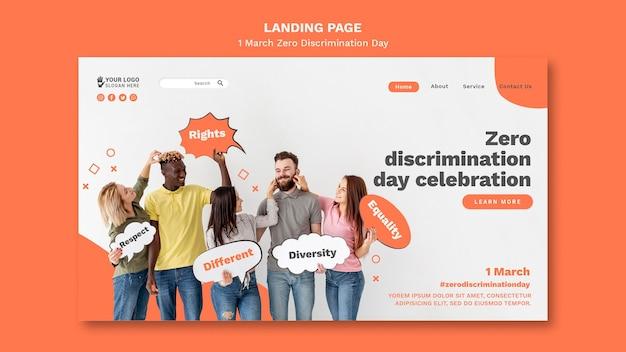 Modello web di giorno di discriminazione zero