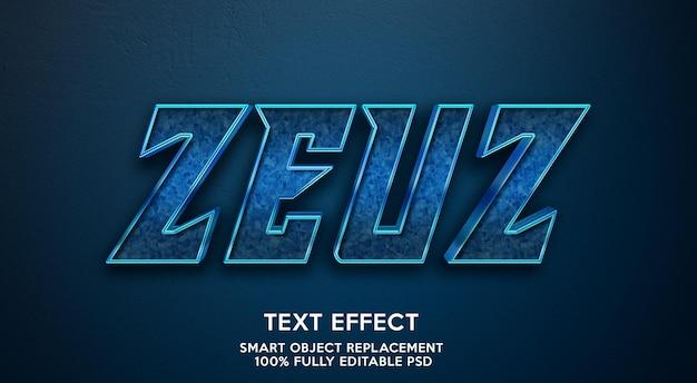 Modello effetto testo zeuz