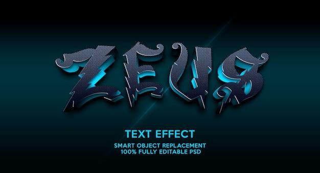 Modello di effetto testo zeuz