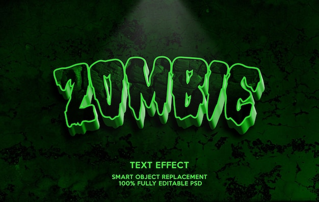 Modello effetto testo zombie