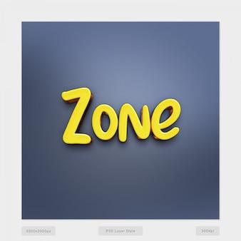 Effetto di stile testo zona 3d