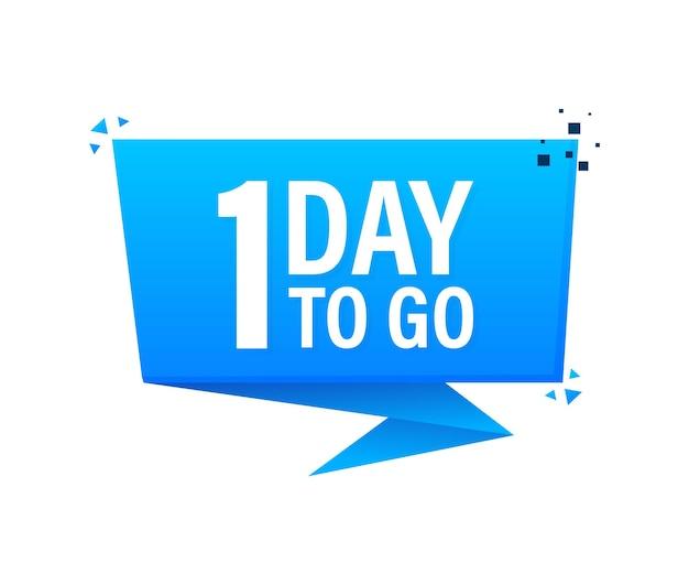 1 days to go poster in stile piatto