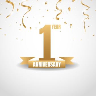 1 ° anniversario d'oro