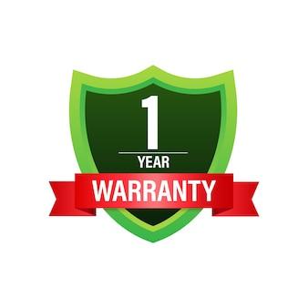 1 anno di garanzia. icona del servizio di supporto. illustrazione di riserva di vettore