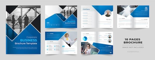 Modello di brochure di 10 pagine