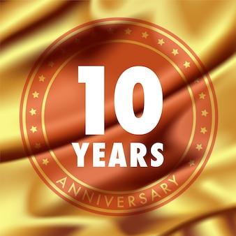 Anniversario di 10 anni