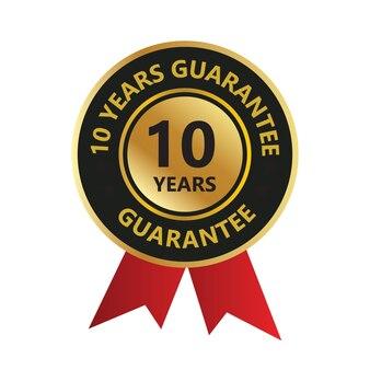 10 anni di garanzia del logo del badge di fiducia