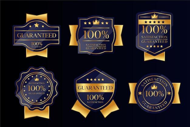 Collezione di badge garantiti al 100%