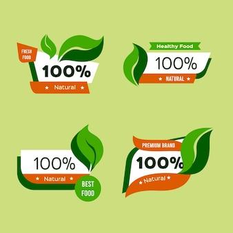 Collezione di badge naturali al 100%