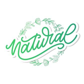 100 lettere naturali timbro illustrazione slogan calligrafia
