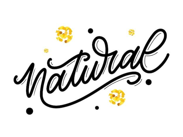 100 calligrafia di slogan dell'illustrazione del timbro dell'iscrizione di vettore naturale