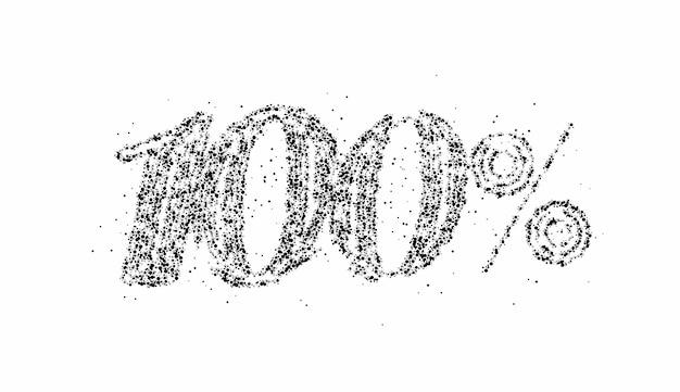 100% di sconto sulla vendita di particelle banner. prezzo dell'offerta di sconto. illustrazione moderna dell'autoadesivo di vettore.