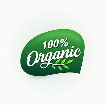 Etichetta certificata per alimenti biologici al 100%