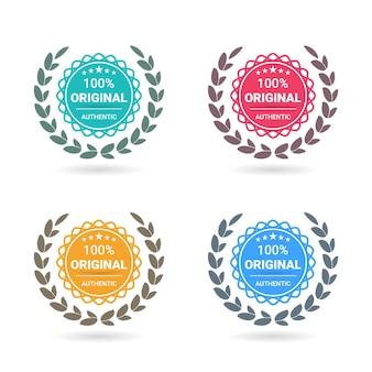 100 badge logo originale. garanzia di garanzia certificata