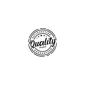 Logo del timbro del prodotto di qualità garantita al 100% di soddisfazione